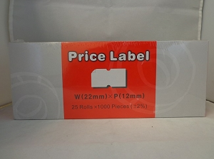25ct Price Label W(22 mm) x P(12 mm)
