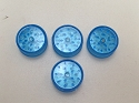 Blue 2 Part Mini Plastic Grinder H355 ( Buy 6 pc $ 0.39 Each )