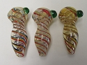 Rasta Spiral Glass Pipe