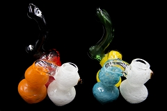 350Gr. Solid Colored 3 Chamber Glass Bubbler