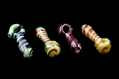 110Gr. Spiral Triple Colored Glass Pipe