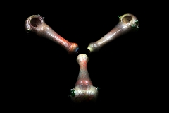 100Gr. Fumed Mixed Colored Designed Glass Pipe