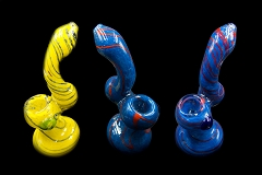 150Gr. Colored Lining & Dotted Glass Bubbler