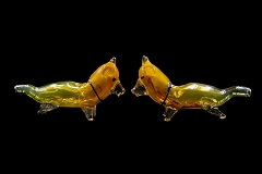 90Gr. Gold Colored Dog Glass Pipe