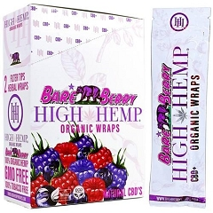 High Hemp Organic CBD Blunt Wraps 25ct (Bare Berry)