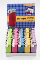 Easy Way Colored Refillable Lighter 50ct Display Box