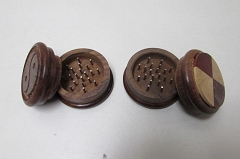 Small 2 Colored Designed Wooden Grinder