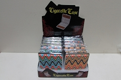 100mm Leather Cig Case W/ Chevron Print CC-LS9-100 ( Buy 12 pc $ 2.50 Each )