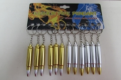 Metal Bullet Hidden Pipe Pendant Keychain 12ct Display