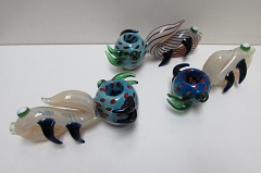 Multiple Horns Designed Head Colored Glass Pipe