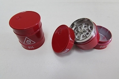 Red Oil Tank 3 Part Grinder (Buy 12pc $2.50 each)