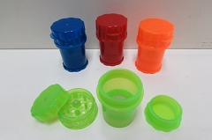 4 Part Colored Plastic Tall Grinder (Buy 6pcs $2.75 each) NS-415J