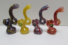 Solid Colored Middle Hole Glass Bubbler