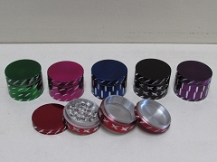 42mm 4 Part Solid Color Cut Design Grinder