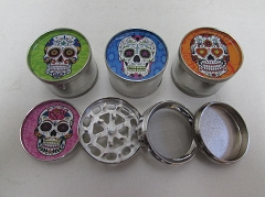 4 Part Candy Skull Aluminium Grinder ( Buy 12 Pc $ 2.99 Each )