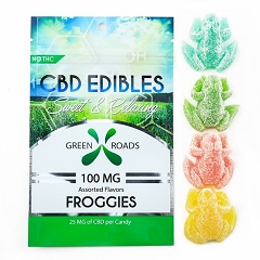 Green Roads CBD Edibles 4 Gummy Froggies 100mg