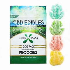 Green Roads CBD Edibles 4 Gummy Froggies 200mg