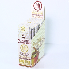 High Hemp Organic CBD Blunt Wraps 25ct (Honey Pot Swirl)