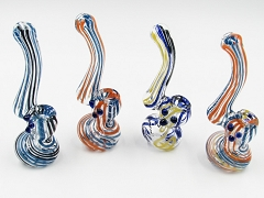 60Gr. Double Colored Lining Beads Mini Glass Bubbler (Buy 24pc $1.99 each)