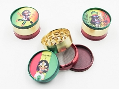 4 Part 51mm Rasta Marley Metal Grinder (Buy 12pc $2.99 each) GR042