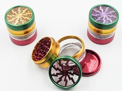 4 Part 63mm Rasta Lightning Style Mix Colored w/ Acrylic Side Window (Buy 6pc $7.99 each) GR143-63RT