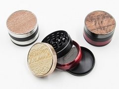 4 Part 51mm Black and Gold Metal Grinder (Buy 12pc $3.99 each) AA-227