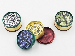 3 Part Camo Rasta Design Metal Grinder (Buy 12pc $1.99 each) AA-257