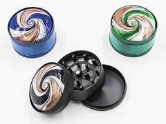 3 Part Seashell Design Metal Grinder (Buy 12pc $2.99 each) AA-268