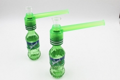 Green Soda Bottle Portable Glass Water Pipe