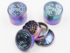 4 Part 63mm Maze Top Rainbow Grinder GR150RB ( Buy 6 Pc $ 6.99 Each )