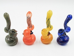 110Gr. Colored Middle Striped Glass Mini Bubbler