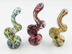 150Gr. Fumed Dotted Different Designed Glass Bubbler