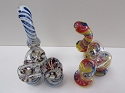 3 Chamber Spiral Lining Heavy Glass Bubbler