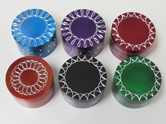 63mm 4 Part Colored Circular Design Grinder
