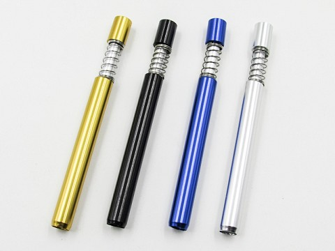 Metal Colored Pushable Pipe Chillum (Buy 50ct Display Box $0.80 each)