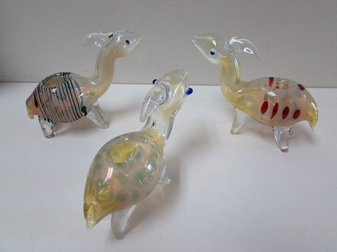 Fumed Giraffe Animal Glass Pipe