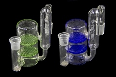 19mm Carved Design Male Female Double Honeycomb Glass Ash Catcher