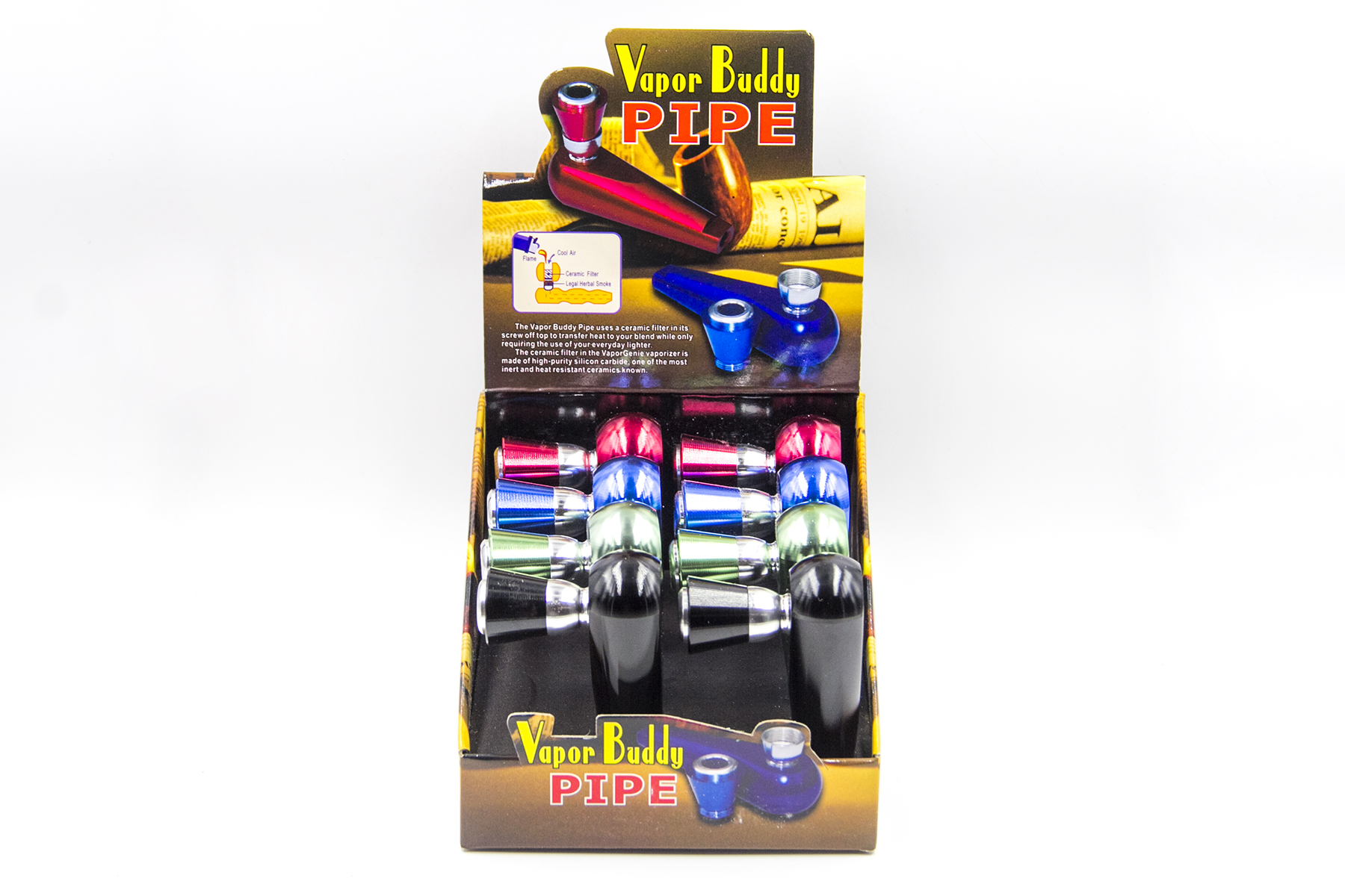 Vapor Buddy Pipe Diff Colors (Buy 8pcs $4 99 each)