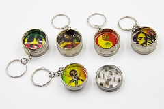 Mini Pocket Bob Marley Metal Grinders (Buy 24pc Display $1.99 each)