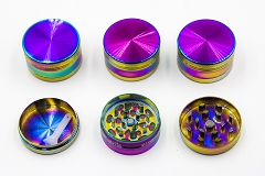40mm 3 Part Rainbow Metal Grinder DK5662-3 (Buy 12pc $3.99 each)