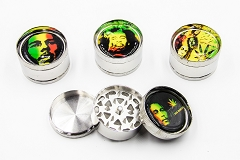 3 Part Bob Marley Metal Grinder (Buy 12pc $3.50) AA-62