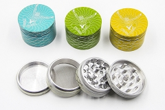 56mm 4 Part Printed Design Colored Metal Grinder