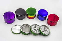 63mm 4 Part Shiny Colored Aluminum Grinder