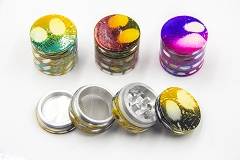 42mm 4 Part Designed Cut Colored Grinder