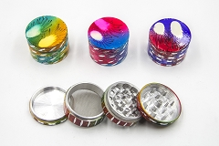56mm 4 Part Designed Cut Colored Grinder