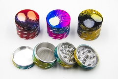 50mm 4 Part Designed Cut Colored Grinder