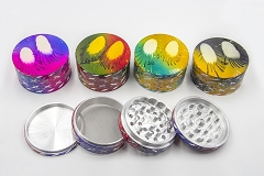 80mm 4 Part Designed Cut Colored Grinder