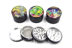 63mm 4 Part Rick & Morty Aluminum Grinder