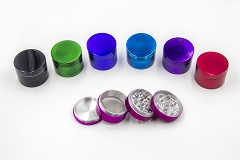 42mm 4 Part Solid Colored Grinder (Buy 6pc $2.25)