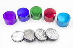 57mm 4 Part Solid Colored Grinder
